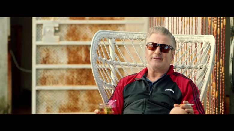 Adidas Red-Black Jacket Sports Outfit of Alec Baldwin as Jack Murphy in Chick Fight Movie (1)