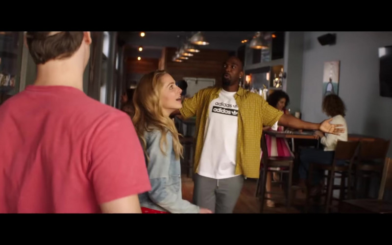 Adidas White T-Shirt Outfit of Jay Pharoah in All My Life (2020)