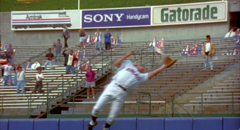 Amtrak, Sony Handycam and Gatorade Signs in Angels in the Outfield (1994)