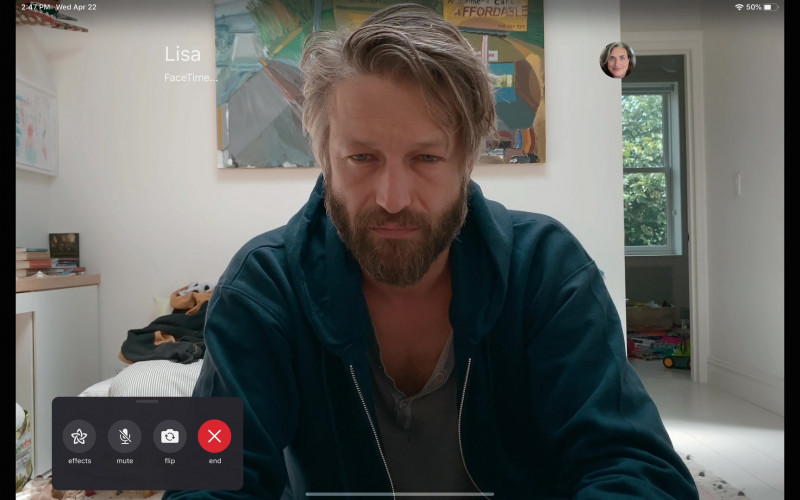 Apple FaceTime App Used by Leo Bai-Scanavino as Travor Watson in Social Distance S01E05 (1)