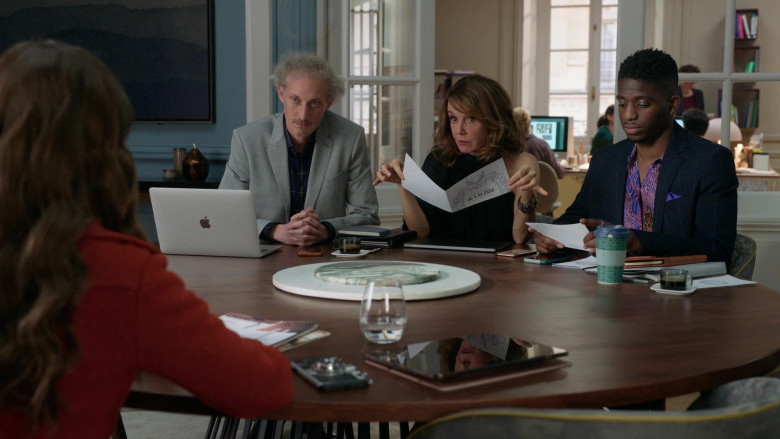 Apple MacBook Laptop Used by Bruno Gouery as Luke in Emily in Paris S01E08 Family Affair