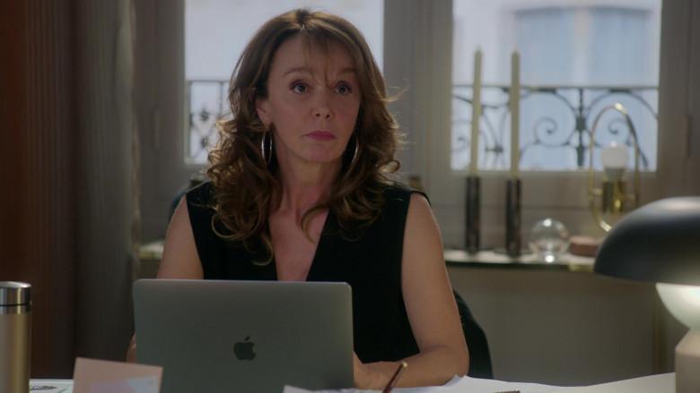 Apple MacBook Laptop of Philippine Leroy-Beaulieu as Sylvie in Emily in Paris – Season 1 Ep. 1 (2020)