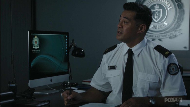 Apple iMac Computer Used by Robbie Magasiva as Will Jackson in Wentworth S08E10 (2)