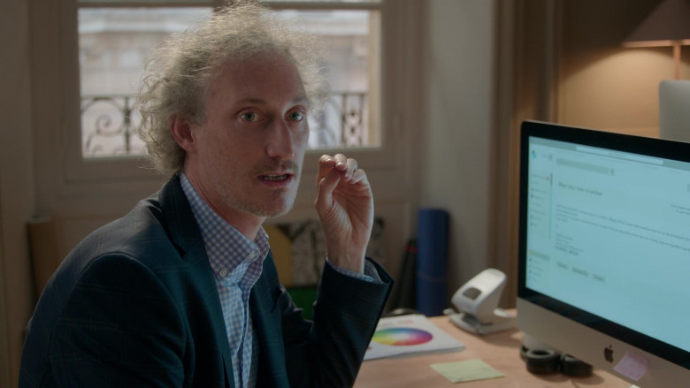 Apple iMac PC of Bruno Gouery as Luke in Emily in Paris – Season 1 Ep. 1 (2020)