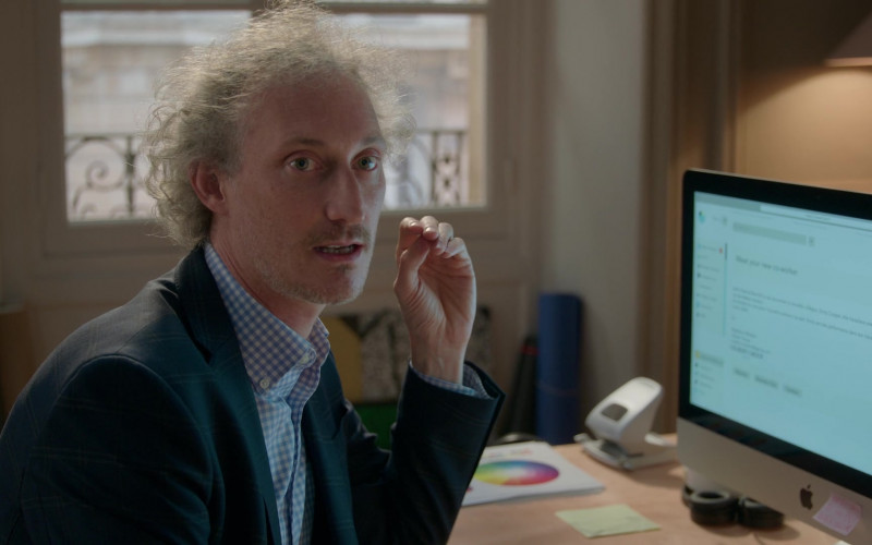 Apple iMac PC of Bruno Gouery as Luke in Emily in Paris – Season 1 Ep. 1 (2020)