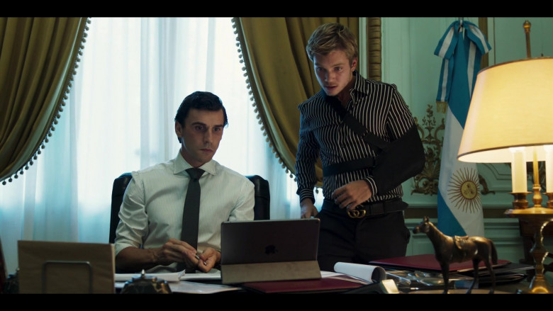Apple iPad Tablet on the Table in Riviera S03E08 (2020)
