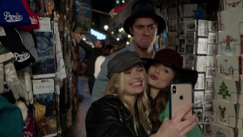 Apple iPhone Smartphone of Camille Razat in Emily in Paris S01E05