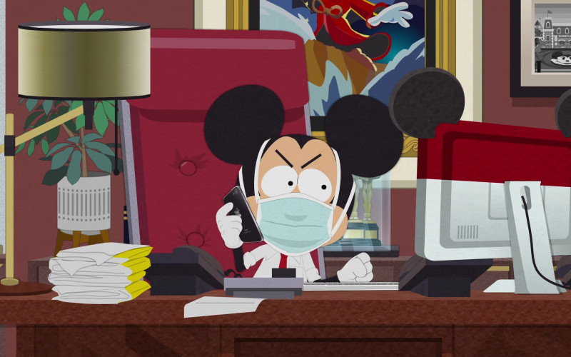 Apple iPhone Smartphone of Mickey Mouse in South Park S24E00 (1)