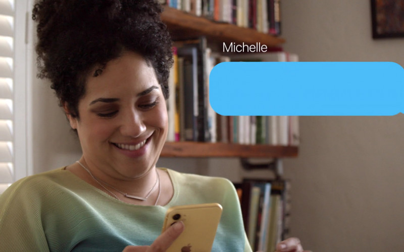 Apple iPhone Yellow Smartphone of Jill Knox as Michelle in Connecting… S01E04 Day 82 (2020)
