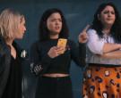 Apple iPhone Yellow Smartphone of Piper Curda as Kayla in Am...