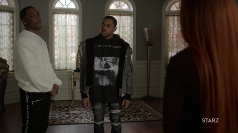 Balmain Men's Pants Outfit of Woody McClain as Cane Tejada in Power Book 2 Ghost S01E05 TV Show (2)