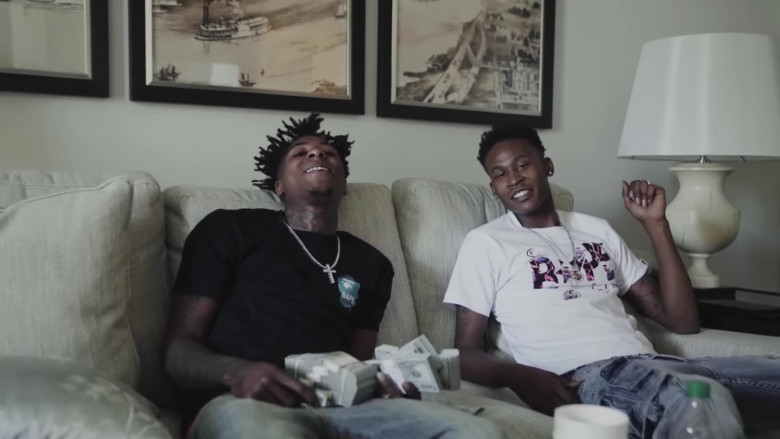 Bape T-Shirt Outfit of NBA Youngboy in The Story of O.J. (Top Version) (3)