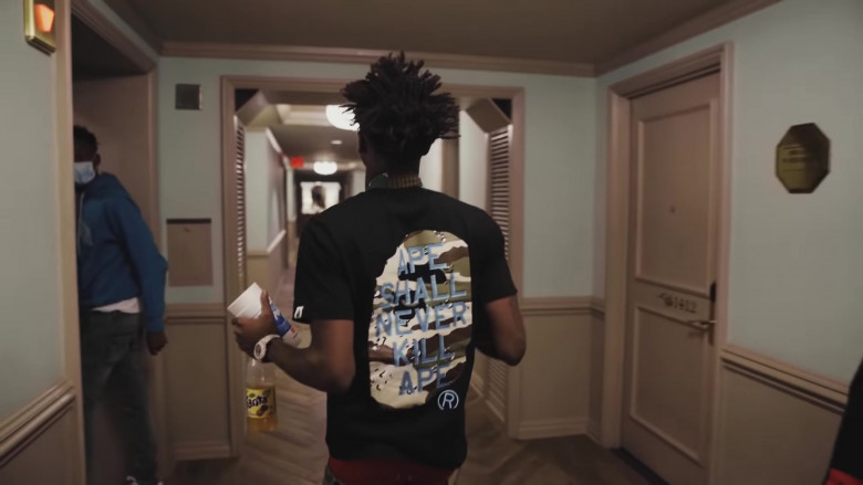 Bape T-Shirt Outfit of NBA Youngboy in The Story of O.J. (Top Version) (5)
