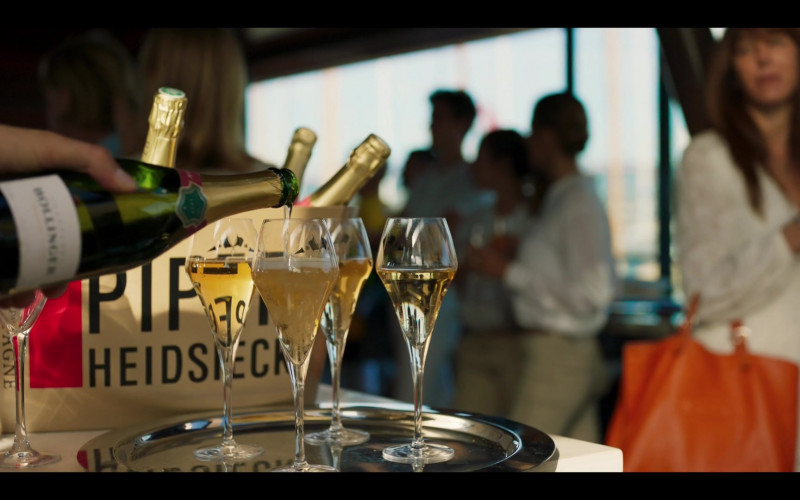 Bollinger Bottle and Piper-Heidsieck Champagne in Riviera S03E02 (2020)