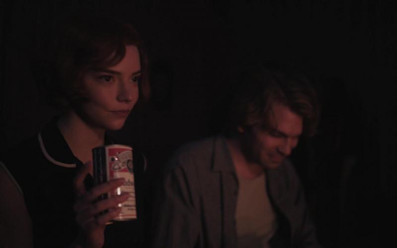 Budweiser Beer of Anya Taylor-Joy as Beth Harmon in The Queen's Gambit Episode 4 (1)
