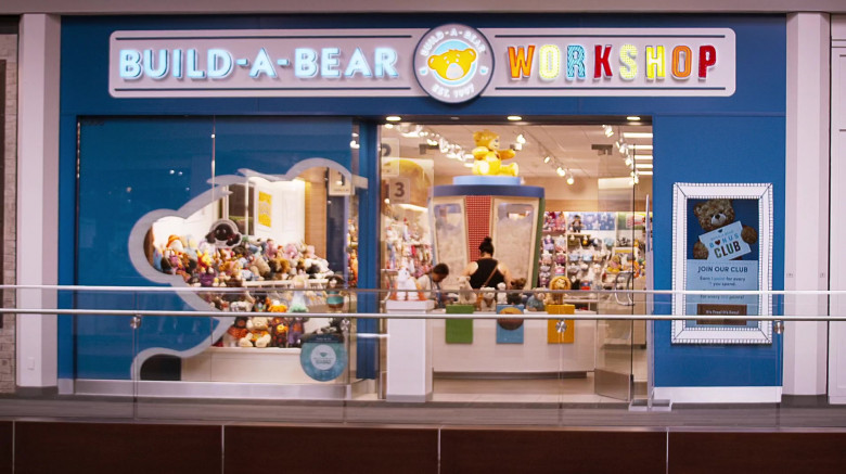 Build-A-Bear Workshop Visited by Jimmy O. Yang & Debby Ryan in The Opening Act Movie (1)