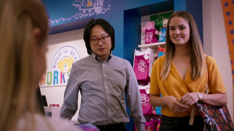 Build-A-Bear Workshop Visited by Jimmy O. Yang & Debby Ryan in The Opening Act Movie (4)