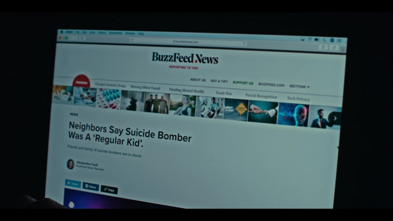 BuzzFeed News Website in Grand Army S01E02 See Me (2020)