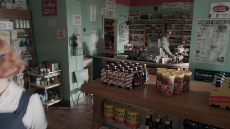 Cafe Bustelo Coffee and Peter Pan Peanut Butter in The Queen's Gambit Episode 2 Exchanges (2020)