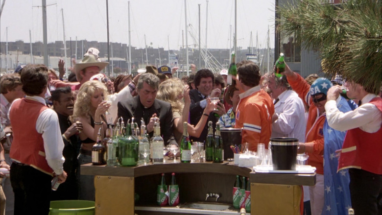 Canada Dry and Moet Bottles in The Cannonball Run (1981)
