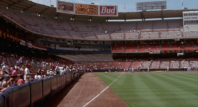 Carl's Jr., Coca-Cola, Budweiser and Marlboro in Angels in the Outfield (1994)