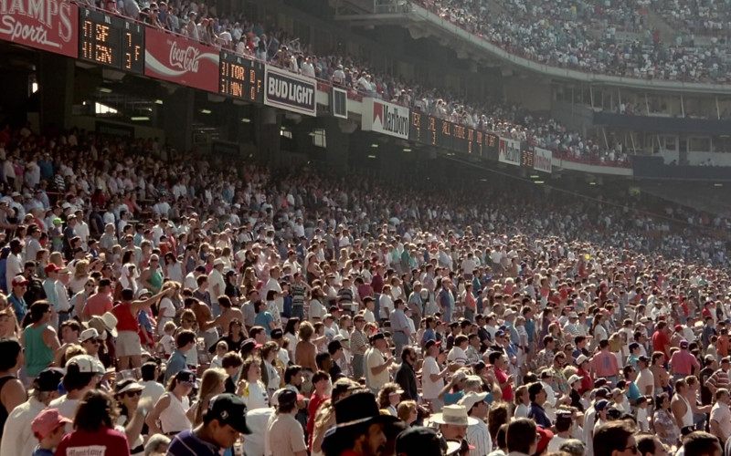 Champs Sports, Coca-Cola, Bud Light, Marlboro in Angels in the Outfield (1994)