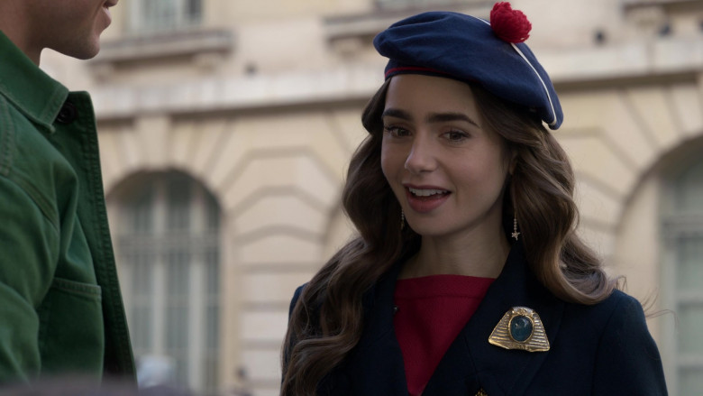 Chanel Egyptian Style Brooch of Lily Collins in Emily in Paris S01E10 (2)