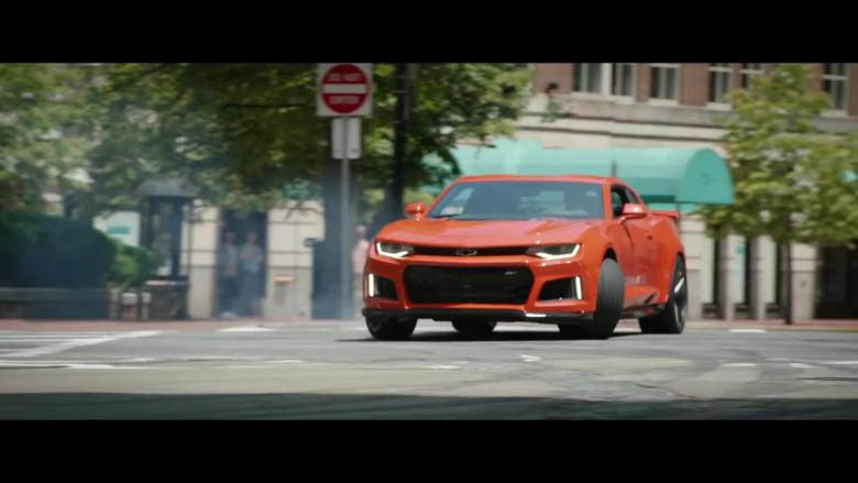 Chevrolet Camaro Orange Sports Car in Free Guy Movie (1)
