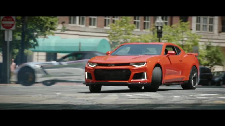 Chevrolet Camaro Orange Sports Car in Free Guy Movie (2)