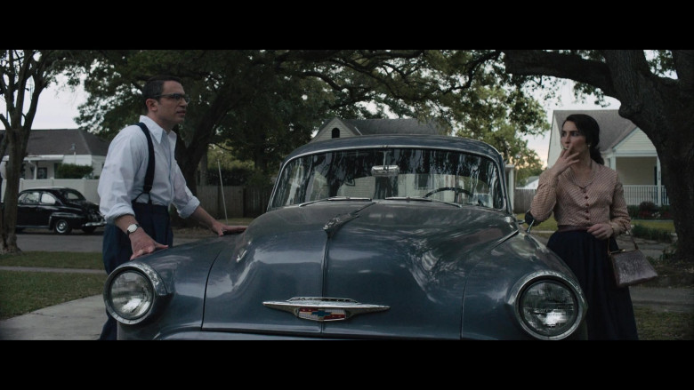 Chevrolet Retro Vintage Car of Noomi Rapace as Maja Stowe in The Secrets We Keep Movie (2)
