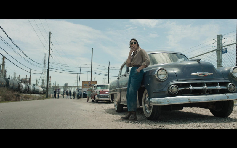 Chevrolet Retro Vintage Car of Noomi Rapace as Maja Stowe in The Secrets We Keep Movie (3)