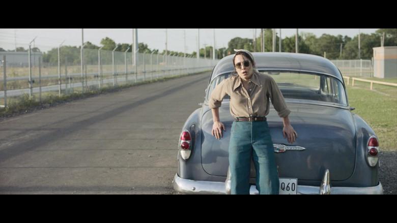 Chevrolet Retro Vintage Car of Noomi Rapace as Maja Stowe in The Secrets We Keep Movie (5)