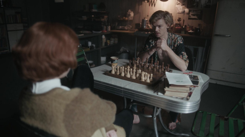 Chock full o'Nuts Coffee Cup of Thomas Brodie-Sangster as Benny Watts in The Queen's Gambit