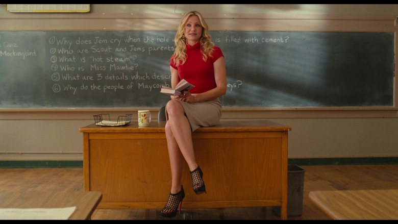 Christian Louboutin Coussin Caged Ankle Boots of Cameron Diaz as Elizabeth Halsey in Bad Teacher (2011)