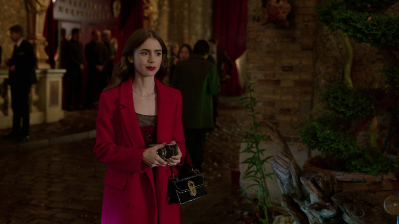 Christian Louboutin Handbag French Outfit of Lily Collins in Emily in Paris S01E07