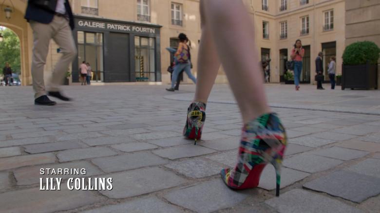 Christian Louboutin Printed Pumps of Lily Collins in Emily in Paris – Season 1 Ep. 1 (2020)