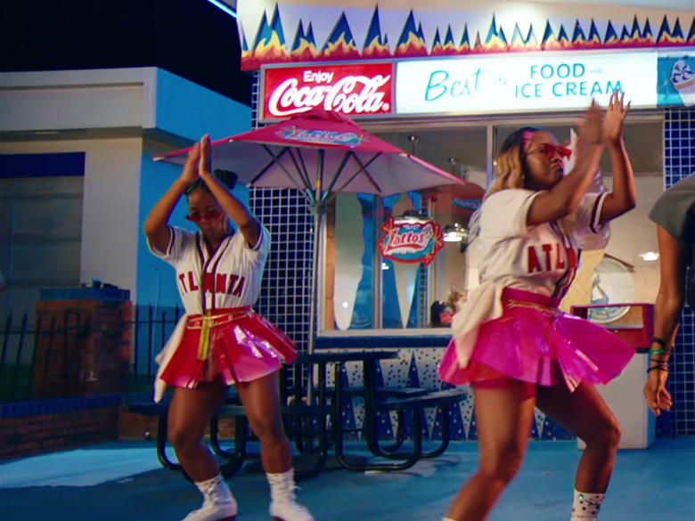 Coca-Cola Soda Sign in 'In n Out' Music Video by Mulatto feat. City Girls (1)