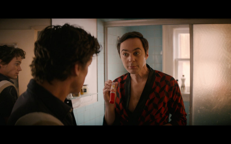 Colgate Toothbrush Held by Jim Parsons as Michael in The Boys in the Band Movie