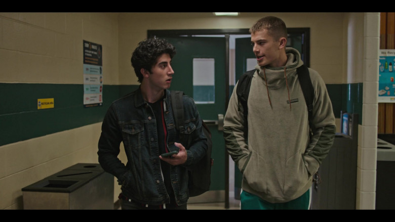 Columbia Hoodie Outfit of Brian Altemus as Luke Friedman in Grand Army S01E09 TV Show (1)