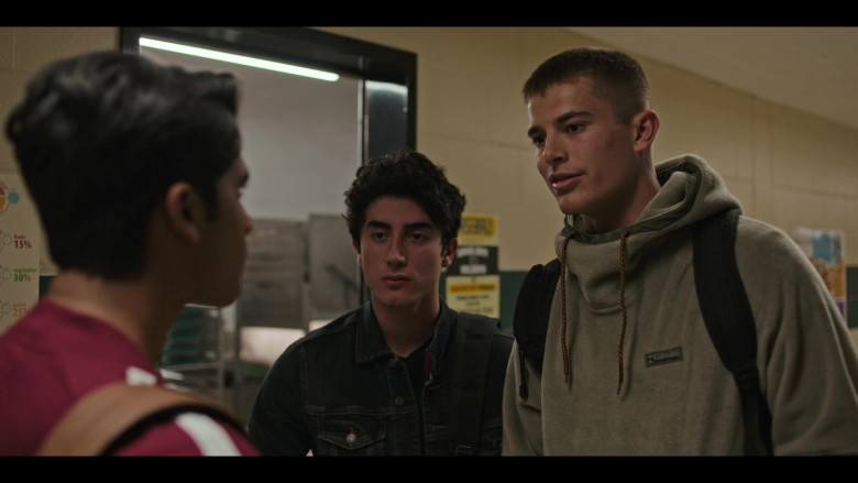 Columbia Hoodie Outfit of Brian Altemus as Luke Friedman in Grand Army S01E09 TV Show (2)