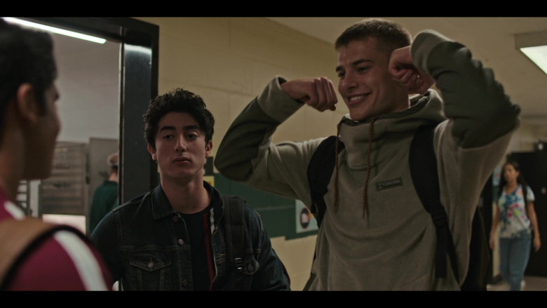 Columbia Hoodie Outfit of Brian Altemus as Luke Friedman in Grand Army S01E09 TV Show (3)