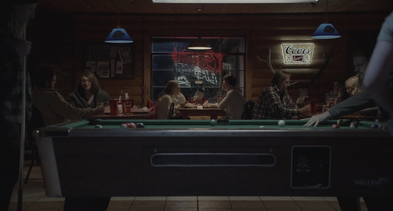 Coors Banquet Beer Sign in The Wolf of Snow Hollow (1)