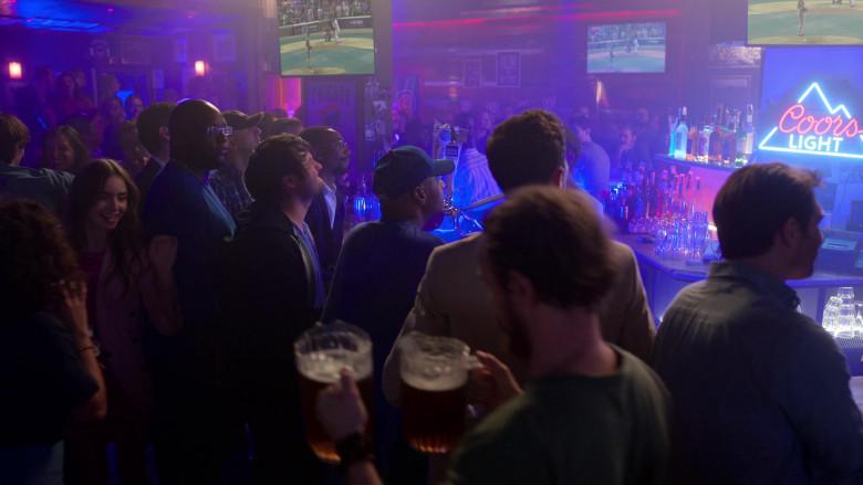 Coors Light Beer Neon Sign in Emily in Paris – Season 1 Ep. 1 (1)