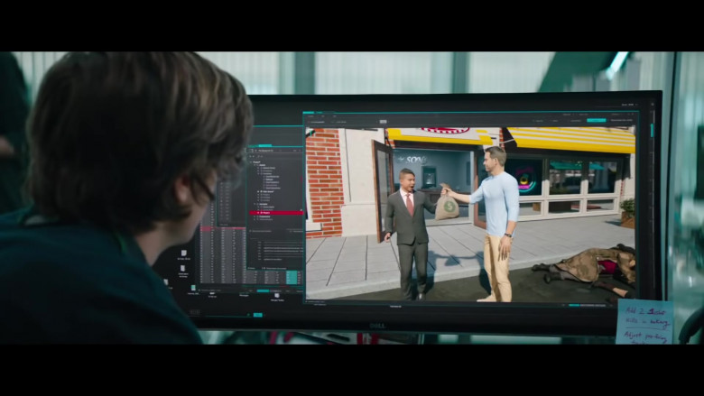 Dell Computer Monitor Used by Joe Keery as Keys in Free Guy Movie