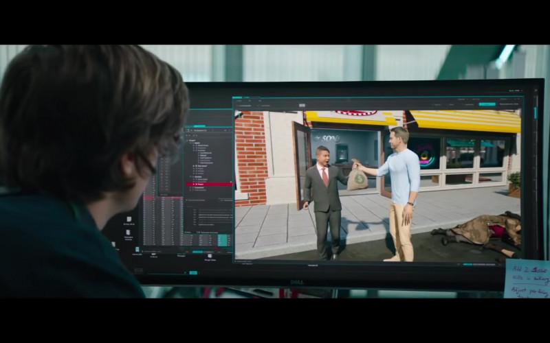 Dell Computer Monitor Used by Joe Keery as Keys in Free Guy Movie