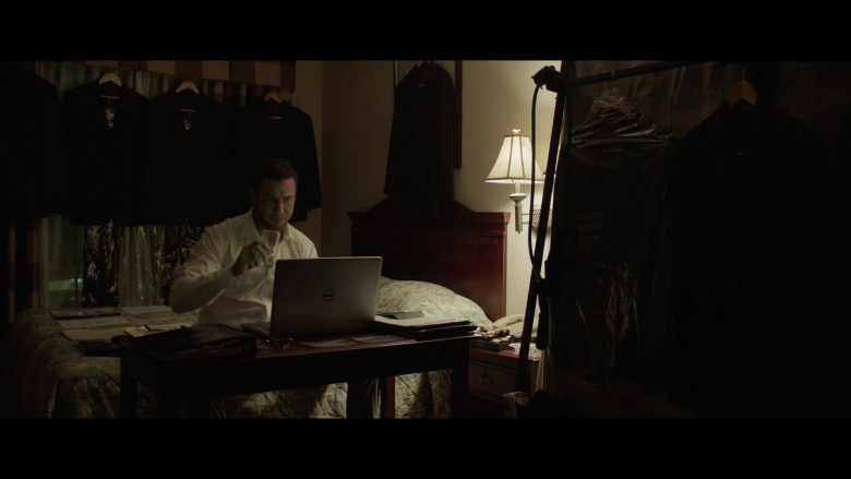 Dell Laptop of Pablo Schreiber as Ezekiel in The Devil Has a Name (2)