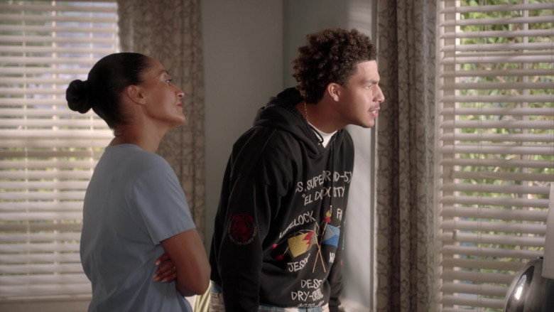 Diesel Hoodie Outfit of Marcus Scribner in Black-ish S07E01 TV Show (2)