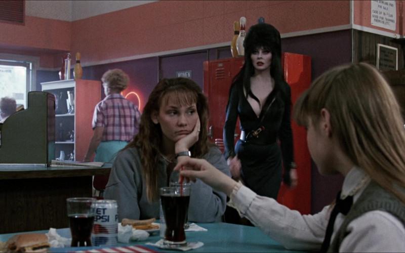 Diet Pepsi Soda Cans in Elvira Mistress of the Dark (1)