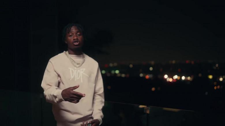 Dior Sweatshirt Outfit of Lil Tjay in 'Mood Swings' by Pop Smoke (3)