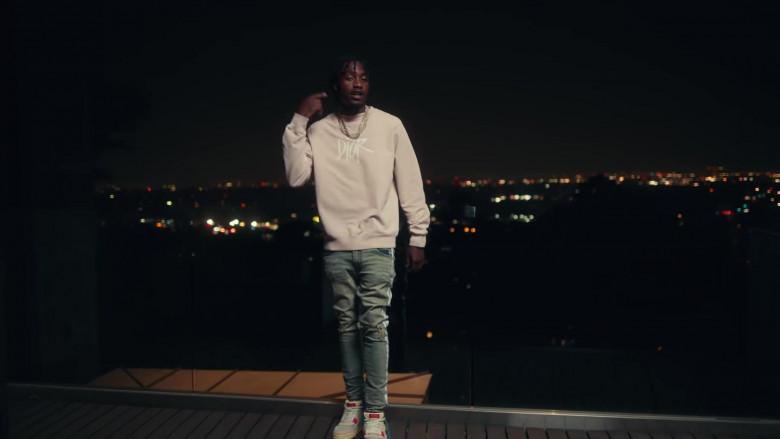 Dior Sweatshirt Outfit of Lil Tjay in 'Mood Swings' by Pop Smoke (4)